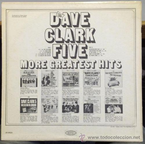 Discos de vinilo: THE DAVE CLARK FIVE - more greatest hits 66 !! garage rock !! RARA 1ª EDIC ORG USA epic, EXC - Foto 2 - 54870373