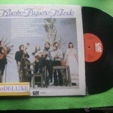 Discos de vinilo: NUESTRO PEQUEÑO MUNDO VOL.1. LP SPAIN 1980 PDELUXE. Lote 54882625