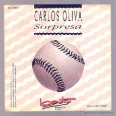 Discos de vinilo: CARLOS OLIVA - SORPRESA (VINILO 7'' PROMO. 1990, BAT BT 020 S) SALSA. Lote 54886174