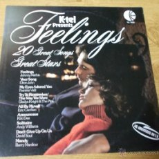 Discos de vinilo: FEELINGS. 20 GREAT SONGS. GREAT STARS. Lote 54909827