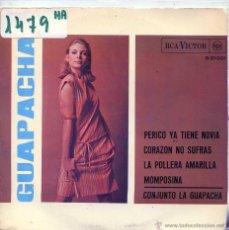 Discos de vinilo: LA GUAPACHA / PERICO YA TIENE NOVIA / LA POLLERA AMARILLA + 2 (EP PROMO 1966). Lote 54910319