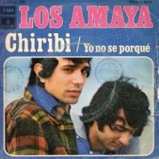 Discos de vinilo: LOS AMAYA - CHIRIBI - SINGLE. Lote 54916720