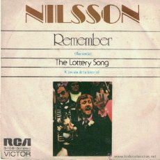 Discos de vinilo: NILSSON - REMEMBER / THE LOTTERY SONG (SPAIN, SINGLE 1972). Lote 54919709