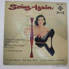 Discos de vinilo: SWING AGAIN - KLAUS WUNDERLICH - HUBERT DEURINGER - MIT RHYTHMUSGRUPPE - AÑOS 60/70. Lote 54924465