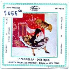Discos de vinil: ANTAL DORATI (ORQUESTA SINFONICA DE MINNEAPOLIS) COPPELIA-DELIBES (EP 1960). Lote 54929406