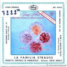 Discos de vinilo: ANTAL DORATI (ORQUESTA SINFONICA DE MINNEAPOLIS) LA FAMILIA STRAUSS (EP 1960). Lote 54929489