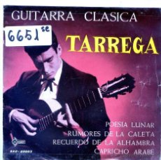 Discos de vinil: ANTONIO TARREGA / POESIA LUNAR / RUMORES DE LA CALETA + 2 (EP 1961). Lote 54929518