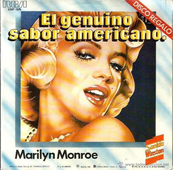 EP 6 TEMAS SONIDO WINSTON : MARILYN MONROE + GLENN MILLER + ELVIS PRESLEY + LOUIS ARMSTRONG, ETC (Música - Discos de Vinilo - EPs - Bandas Sonoras y Actores)