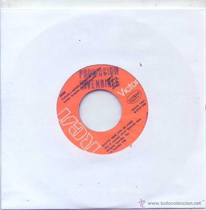 JAIRO / NUESTRO AMOR SERA UN HIMNO / COMO DECIRTE QUE TE QUIERO (SINGLE PROMO 1980) (Música - Discos - Singles Vinilo - Grupos y Solistas de latinoamérica)