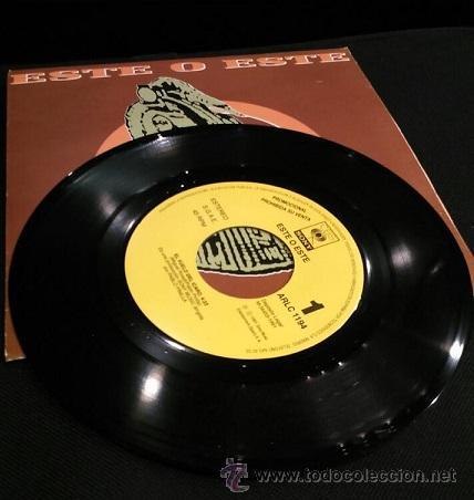 Discos de vinilo: ESTE O ESTE EL VUELO DEL ICARO SINGLE VINILO POP ESPANOL 1991 - Foto 2 - 54933472