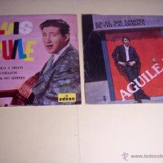 Discos de vinilo: LOTE DE 1 EP Y 1 SINGLE DE LUIS AGUILE (PREGUNTASELO A FRIZZI /+3 / ES EL SOL ESPAÑOL /+1) 1964-1968. Lote 54951226