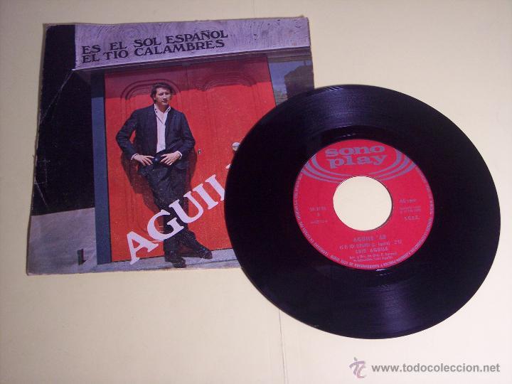 Discos de vinilo: LOTE DE 1 EP Y 1 SINGLE DE LUIS AGUILE (PREGUNTASELO A FRIZZI /+3 / ES EL SOL ESPAÑOL /+1) 1964-1968 - Foto 5 - 54951226