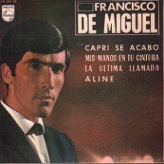 FRANCISCO DE MIGUEL / CAPRI SE ACABO / MIS MANOS EN TU CINTURA / EP PHILIPS DE 1965 RF-167