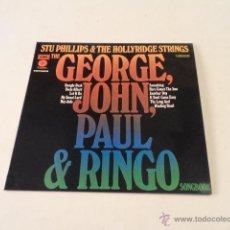 Discos de vinilo: BEATLES -LP THE GEORGE, JOHN, PAUL & RINGO SONGBOOK - STU PHILLIPS & THE H. STINGS - MUY BUEN ESTADO. Lote 54973982