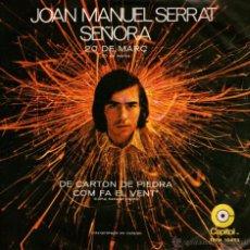Discos de vinilo: JOAN MANUEL SERRAT - EP VINILO 7'' - EDITADO EN MÉXICO / MÉJICO - SEÑORA + 3 - CAPITOL 1971. Lote 54977514