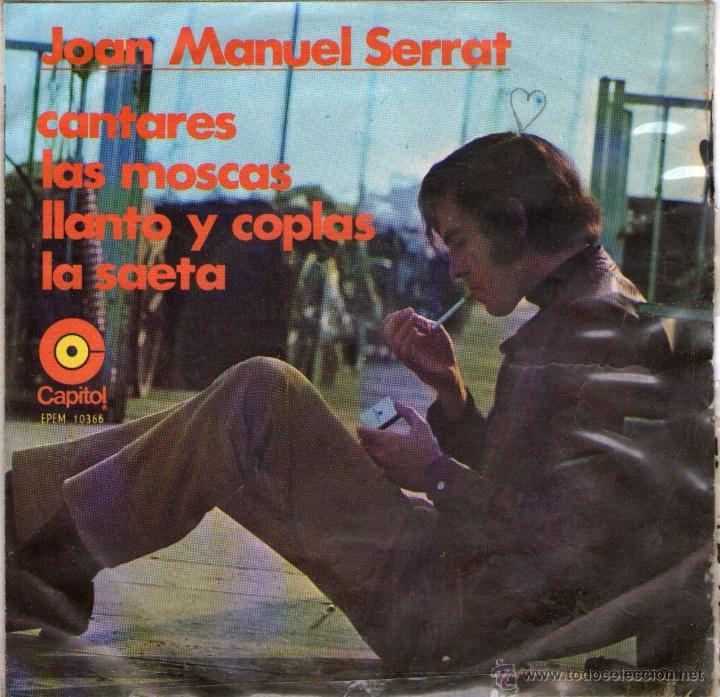 JOAN MANUEL SERRAT - EP VINILO 7'' - EDITADO EN MÉXICO / MÉJICO - CANTARES + 3 - CAPITOL (Música - Discos de Vinilo - EPs - Solistas Españoles de los 70 a la actualidad)
