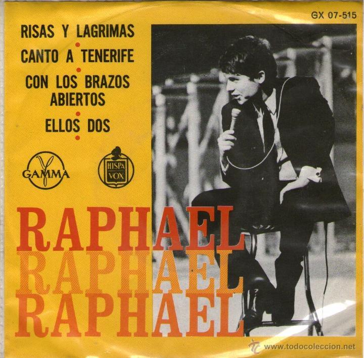 RAPHAEL - EP SINGLE VINILO 7'' - RISAS Y LÁGRIMAS + 3 - EDITADO EN MÉXICO / MÉJICO POR GAMMA (Música - Discos de Vinilo - EPs - Solistas Españoles de los 70 a la actualidad)