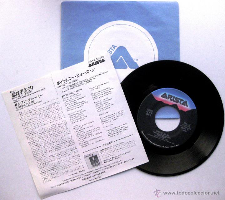 Discos de vinilo: Whitney Houston - How Will I Know - Single Arista 1986 Japan BPY - Foto 2 - 54981672