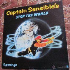 Discos de vinilo: CAPTAIN SENSIBLE'S- MAXI-SINGLE DE VINILO- TITULO STOP THE WORLD- CON 2 TEMAS- DEL 83- NUEVO. Lote 54981958