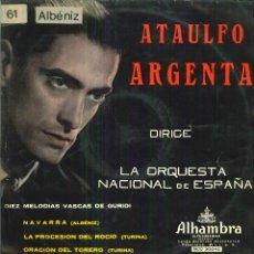 Discos de vinilo: ATAULFO ARGENTA DIRIGE LA ORQUESTA NACIONAL ESPAÑOLA. Lote 54987667