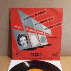 Discos de vinilo: 10 PULGADAS !! SUZANNE DANCO. A RECITAL OF LIEDER. MOZART AND STRAUSS. LP- DECCA - AÑOS 50. ***/***. Lote 54996172