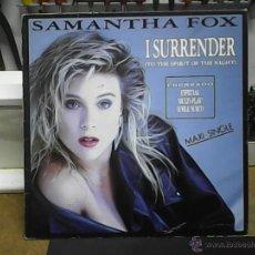 Discos de vinilo: SAMANTHA FOXI SURRENDER. Lote 54999580