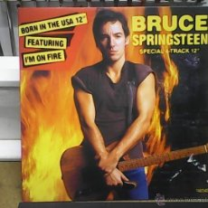 Discos de vinilo: BRUCE SPRINGSTEEN	BORN IN USA - I´M ON FIRE - FEATURING. Lote 54999898