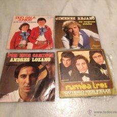 Discos de vinilo: ANTIGUO 4 LP DISCOS VINILO DE LOS GRUPOS DUO GALA JUNIOR JIMENEZ REFANE, ANDRES LOZANO Y RUMBA TRES. Lote 55000268