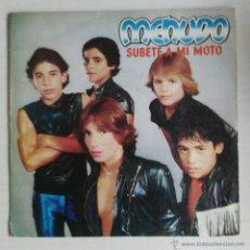 Disques de vinyle: MENUDO: SUBETE A MI MOTO/ROCK EN LA TV. Lote 55003200