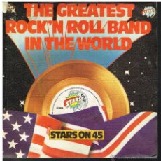 Disques de vinyle: STARS ON 45 - THE GREATEST ROCK'N ROLL BAND IN THE WORLD - SINGLE 1982. Lote 55006587