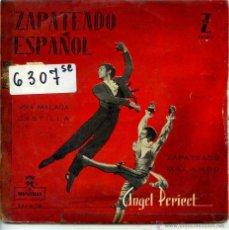 Discos de vinilo: REGIONAL - ANGEL PERICET (ZAPATEADO ESPAÑOL) / VIVA MALAGA / CASTILLA + 2 (EP 1959). Lote 125870802