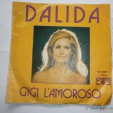Discos de vinilo: DALIDA. GIGI L¨AMOROSO. Lote 55010199