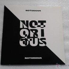 Discos de vinilo: NOTORIOUS - NOTORIOUS LP 1990 EDICION ALEMANA HARD ROCK. Lote 55010356