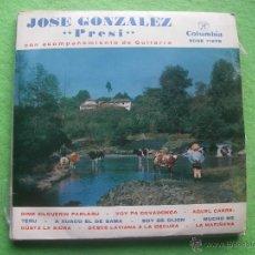 Discos de vinilo: JOSE GONZALEZ PRESI, GUITARRA: E. ACOSTA. ASTURIAS, COLUMBIA EP ASTURIAS PEPETO. Lote 55012961