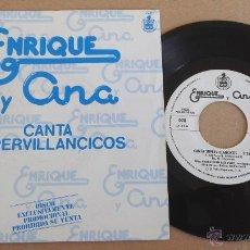 Discos de vinilo: ENRIQUE Y ANA - CANTA SUPERVILLANCICOS - PROMO . Lote 55015545