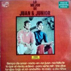 Discos de vinilo: JUAN Y JUNIOR. LO MEJOR. ZAFIRO, ESP. 1972 LP (ZV 690). Lote 55015759