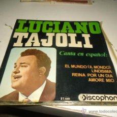Discos de vinilo: DISCO CHICO 7 PULGADAS LUCIANO TAJOLI EL MUNDO . Lote 55015818