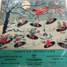 Discos de vinilo: CUENTOS INFANTILES. ALICIA EN EL PAÍS DE LAS MARAVILLAS. COLUMBIA. Lote 55025284