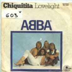 Discos de vinil: ABBA / CHIQUITITA / LOVELIGHT (SINGLE 1979). Lote 55034640