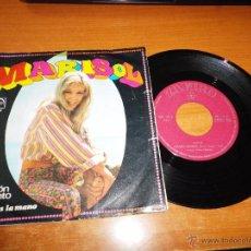 Discos de vinilo: MARISOL CORAZON CONTENTO / SI ME DAS LA MANO PEPA FLORES SINGLE VINILO 1968 ZAFIRO 2 TEMAS. Lote 55035337