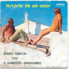 Discos de vinilo: DIGNO GARCIA+QUARTETO PARAGUAYO HISTÓRIA DE UM AMOR+3 ORFEU ATEP 6687 PORTUGAL. Lote 178915990