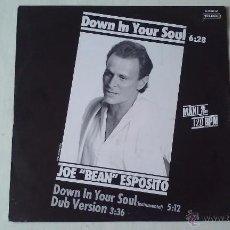 Discos de vinilo: JOE ESPOSITO - DOWN IN YOUR SOUL - 1986. Lote 55055145