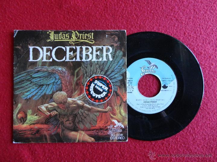 JUDAS PRIEST - DECEIVER / THE RIPPER // SINGLE // 1976 // SPAIN // ERRATA EN PORTADA // COMO NUEVO (Música - Discos - Singles Vinilo - Heavy - Metal)