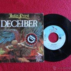 Discos de vinilo: JUDAS PRIEST - DECEIVER / THE RIPPER // SINGLE // 1976 // SPAIN // ERRATA EN PORTADA // COMO NUEVO. Lote 55056620