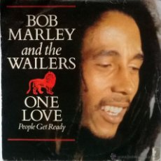 Discos de vinilo: BOB MARLEY. ONE LOVE/ PEOPLE GET READY/ SO MUCH TROUBLE IN THE WORLD. ISLAND, ESP. 1977 PROMOCIONAL. Lote 55059437