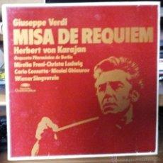 Discos de vinilo: GIUSEPPE VERDI -MISA DE REQUIEM -BOX SET 2LP'S 1975 HERBERT VON KARAJAN . Lote 55059777