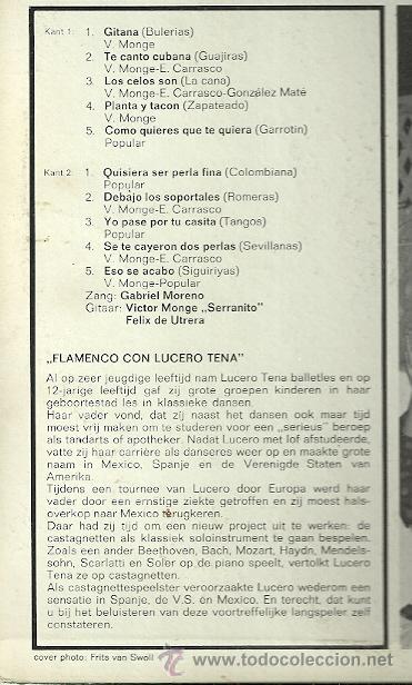 Discos de vinilo: GABRIEL MORENO LP SELLO HISPAVOX con LUCERO TENA - Foto 2 - 55063088
