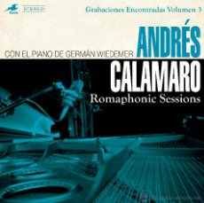 Discos de vinilo: CALAMARO - ROMAPHONIC SESSIONS - CON EL PIANO DE GERMAN WIEDEMER - LP - A ESTRENAR. Lote 55064169