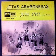 Discos de vinilo: JOSÉ OTO - JOTAS ARAGONESA - 1959. Lote 55074780