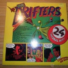 Discos de vinilo: THE DRIFTERS - 24 ORIGINAL HITS (DOBLE LP) UK, 1975. Lote 55080766